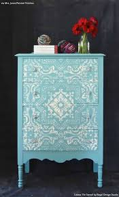 painting designs on furniture. 13 Floor To Ceiling Transformations With Lisboa Tile Stencils Painting Designs On Furniture I