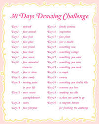 a little bit of everything 30 Days Drawing Challenges part 1