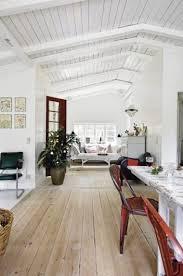 Nordic Floor Joists Hole Chart Wood Floor White Panel Ceiling Walls Scandinavian