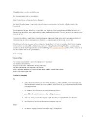 general letter of complaint complaint about a service