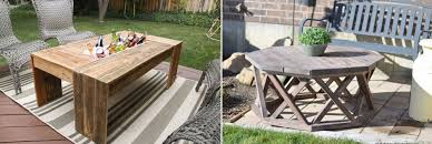diy outdoor table ideas with cool and