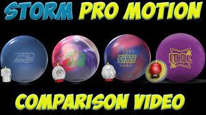 Storm Pro Motion Bowling Ball Comparison