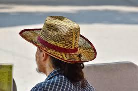 フリー写真画像 カウボーイ 帽子 昔ながら 縦方向 わら 衣料品