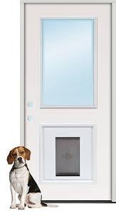 exterior steel doors. Half Lite Steel Prehung Door Unit With Pet Insert Exterior Doors