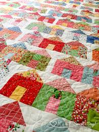 Village Quilt – It's a T-Sweets day! & Village Quilt by Miss Rosie's Quilt Co. - This Quilt is so bright and  colorful Adamdwight.com