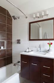 round shower curtain rod bathroom contemporary with dc design house