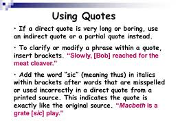 Using Quotations Ppt Download