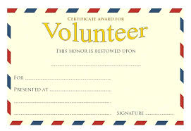 Volunteer Certificate Template Appreciation Hours Of The Month