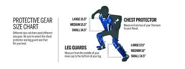 Easton Catchers Gear Size Chart