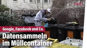 Datensammeln Im Müllcontainer