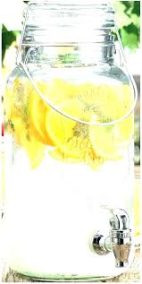 glass drink container with spout l2456 large authentic recycled glass jar w spigot glass beverage dispenser