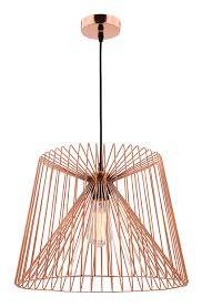 zurich large pendant light wire shade black or copper