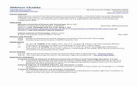 Sample Resumes For Freshers Engineers New Standard Resume Format For