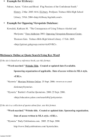 Mla Works Cited Format And Examples Pdf