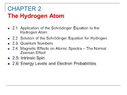1 2 1 of the schrödinger equation to the hydrogen atom 2 2 solution