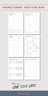 Use These Pages To Plan And Track Your Fitness Meals Habits And