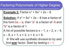 5 factoring polynomials