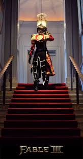 a really professional cosplay of the hero queen from fable 3 i do not own