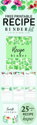 Free Printable Recipe Binder 25 Fab Pages For Your Kitchen