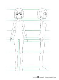 How To Draw Girl Shirts How To Draw Anime Girl Body Step By Step Tutorial Animeoutline