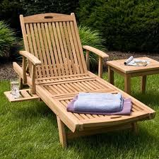 teak chaise lounge chair outdoor