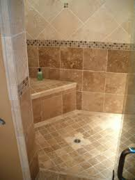 bathroom bathroom shower tile grey wooden unfinished powder vanity and sink mosaic wood accent wall