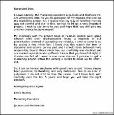 Letter Of Apology Sample Magnificent Apology Letter Template For Behaviour Daremycompany