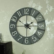 large grey metal wall clock