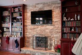 stacked stone fireplace ideas family room traditional with faux stone for fireplaces