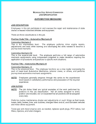 Auto Mechanic Resume Templates Magnificent Mechanics Resume Foodcityme