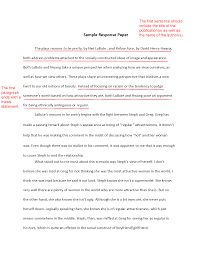 Response Essay How To Write A Response Paper 1