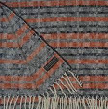 dukagang stripe throw burnt orange