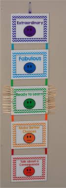 Kindergarten Behavior Color Chart Black And White With Pops Of Color Classroom Behavior