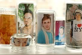 Glass Jar Photo Frames {Source: Photojojo}