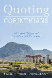 Quoting Corinthians   WipfandStock.com