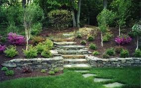 Small Picture Stone Wall In The Garden Dream Homes Plans
