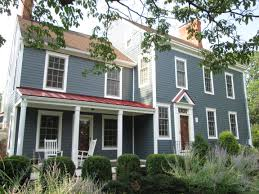 exterior color schemes with red roof. james hardie fiber cement siding in boothbay blue for this old country style home with a. homeslake housesbeach houseshouse colorspaint exterior color schemes red roof