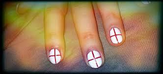 England Flag Nail Designs Beautifinous England Flag World Cup Nail Art