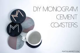 monogram concrete coasters