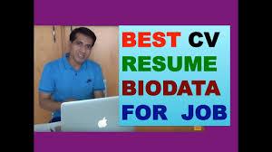 How To Make A Cv For Job How To Make Resume Cv For A Job Hindi