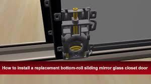 how to install renin s bottom roll bypass sliding mirror closet door you