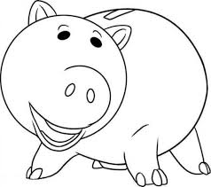 Toy Story Hamm Coloring Pages 3 By Mary School Coloring For Walls