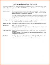 College Application Essay College Application Essay Format Template Example Of A Personal 20