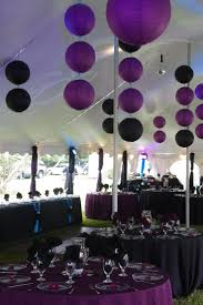Cute purple and black lanterns used as party decor. | Party Ideas & Decor |  Pinterest | Black lantern, Black and Sweet 16