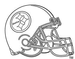 Small Picture Football Helmet Coloring Pages Pittsburg Steelers Things to Wear