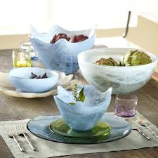 recycled glass dinnerware made in spain from fire and light