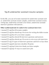 Underwriting Assistant Resume Top224underwriterassistantresumesamples224lva224app622492thumbnail24jpgcb=2242432224922422456 16