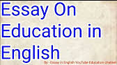 education system of essay speech and presentation  3 08 · education system in british