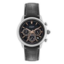 rotary men s black dial black leather strap watch h samuel rotary men s black dial black leather strap watch product number 2826178