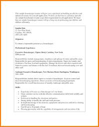 6 Housekeeper Resume Objective Informal Letters